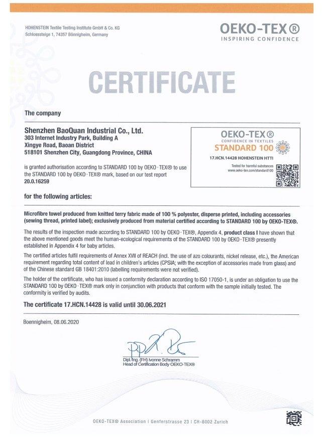 OKEO-Tex-100-Microfiber